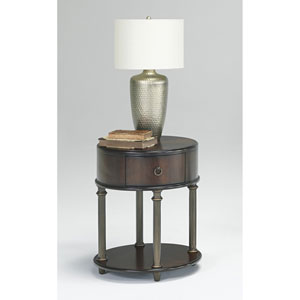 Regent Cherry Oval End Table With Power Pack