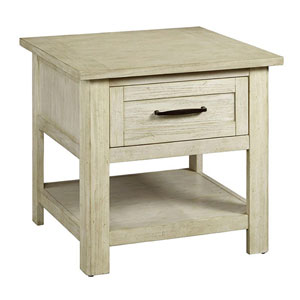 Hillsboro Village Saltstone White End Table