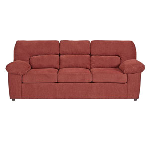 Duke Red Chenille Sofa