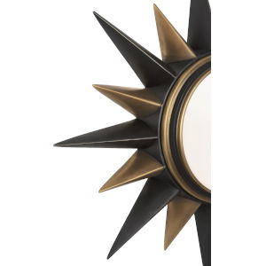 Cosmos Bronze Two-Light Flushmount With Frosted Glass Diffuser