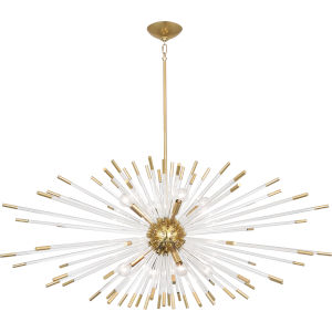 Andromeda Modern Brass  45-Inch Eight-Light Chandelier
