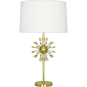 Andromeda Modern Brass with Clear Acrylic Accents 28-Inch One-Light Table Lamp