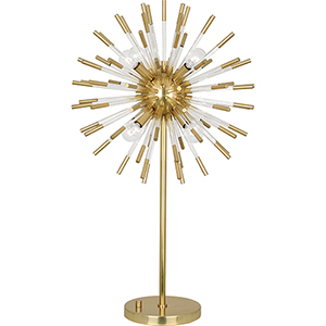 Andromeda Modern Brass with Clear Acrylic Accents 33-Inch Eight-Light Table Lamp