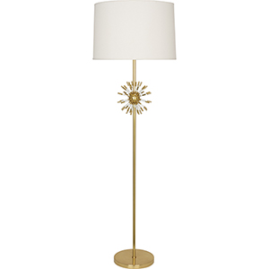 Andromeda Modern Brass with Clear Acrylic Accents 62-Inch One-Light Floor Lamp