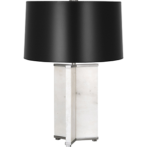 Fineas Alabaster Stone Panels with Dark Antique Nickel Accents 28-Inch One-Light Table Lamp