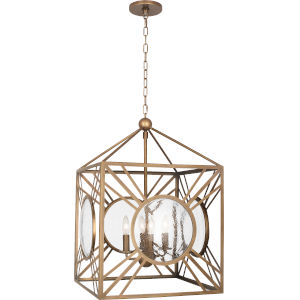 Fineas Aged Brass Four-Light Pendant