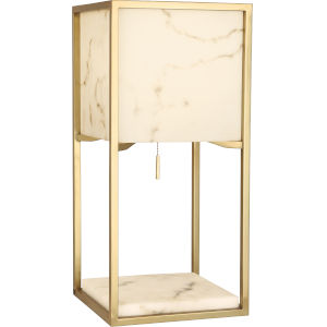 Rubix Modern Brass One-Light Table Lamp