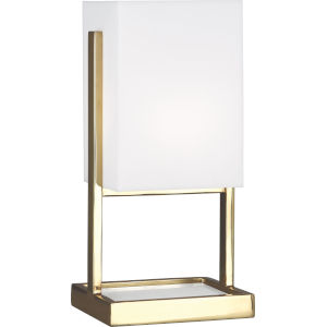 Nikole Modern Brass and White Marble 13-Inch One-Light Table Lamp