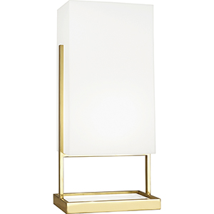Nikole Modern Brass and White Marble 28-Inch One-Light Table Lamp