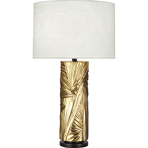 Michael Berman Lucien Modern Brass with Deep Patina Bronze Accents 30-Inch One-Light Table Lamp