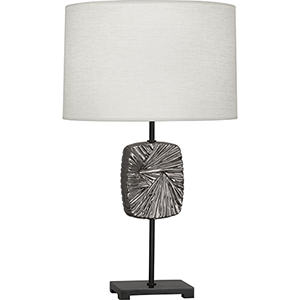 Michael Berman Alberto Deep Patina Bronze with Blackened Antique Silver Accents 27-Inch One-Light Table Lamp