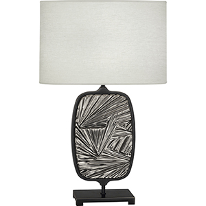 Michael Berman Flynn Deep Patina Bronze with Blackened Antique Silver Accents 28-Inch One-Light Table Lamp