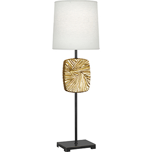 Michael Berman Alberto Deep Patina Bronze with Modern Brass Accents 32-Inch One-Light Table Lamp