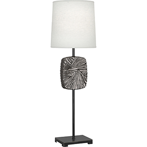 Michael Berman Alberto Deep Patina Bronze with Blackened Antique Silver Accents 32-Inch One-Light Table Lamp