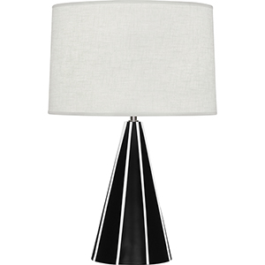 Monique Matte Black and White Painted Resin Base 25-Inch One-Light Table Lamp