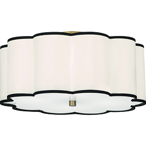 Axis Aged Brass  20-Inch Four-Light Flushmount