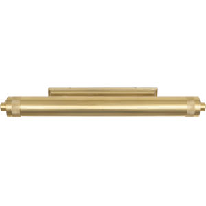 Wyatt Modern Brass Two-Light Wall Sconce With Metal Shade