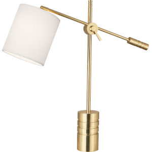 Campbell White, gold One-Light Table Lamp