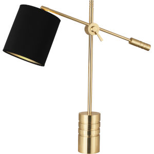 Campbell black, gold One-Light Table Lamp