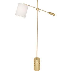 Campbell White, gold One-Light Floor Lamp