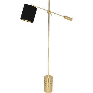 Campbell Gold, Black One-Light Floor Lamp