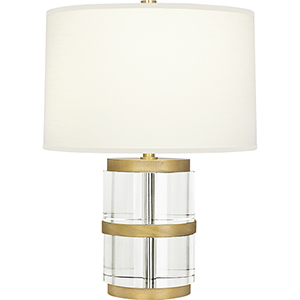 Wyatt Clear Crystal and Modern Brass 19-Inch One-Light Table Lamp