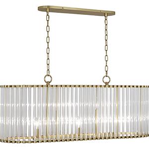 Cole Modern Brass  41-Inch Five-Light Chandelier