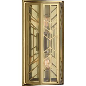 Octavius Modern Brass  Seven-Inch Two-Light Wall Sconce
