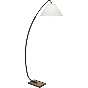 Curtis Deep Patina Bronze with Warm Brass Accents 70-Inch One-Light Floor Lamp
