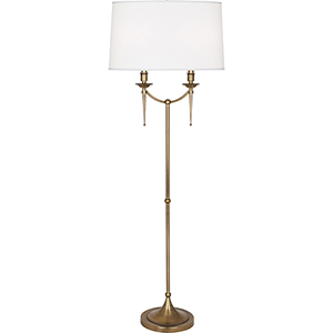 Cedric Warm Brass 58-Inch Two-Light Floor Lamp