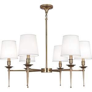 Cedric Warm Brass  34-Inch Six-Light Chandelier
