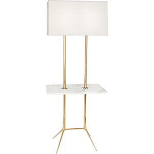 Martin Modern Brass with Marble Tray 61-Inch Two-Light Floor Lamp