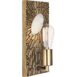 Goliath Antiqued Modern Brass One-Light Wall Sconce