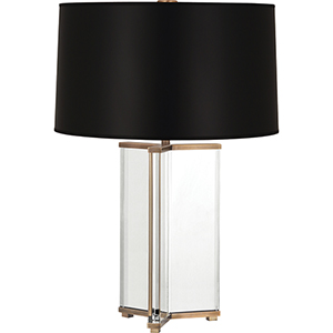 Fineas Clear Crystal and Aged Brass 28-Inch One-Light Table Lamp