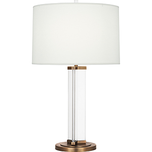 Fineas Clear Glass and Aged Brass 29-Inch One-Light Table Lamp