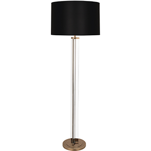 Fineas Clear Glass and Aged Brass 65-Inch One-Light Floor Lamp