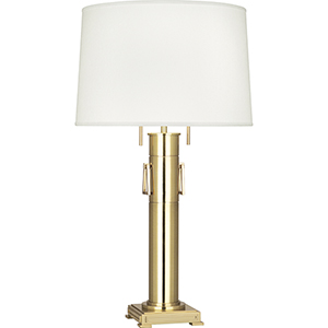 Athena Modern Brass 31-Inch Two-Light Table Lamp