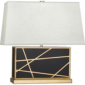 Michael Berman Bond Deep Patina Bronze with Modern Brass Accents 20-Inch One-Light Table Lamp
