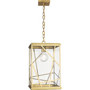 Michael Berman Bond Modern Brass  12-Inch One-Light Pendant