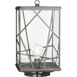 Michael Berman Bond Nickel One-Light Outdoor Post Lantern