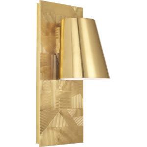Michael Berman Brut Modern Brass One-Light Wall Sconce With Metal Shade