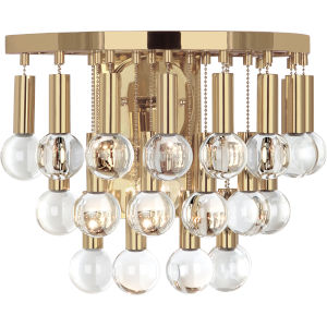 Jonathan Adler Milano Polished Brass One-Light Wall Sconce
