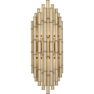 Jonathan Adler Meurice Modern Brass  Seven-Inch Two-Light Wall Sconce
