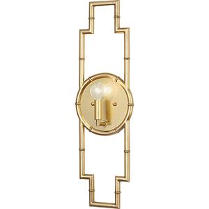 Jonathan Adler Meurice Modern Brass  Seven-Inch One-Light Wall Sconce