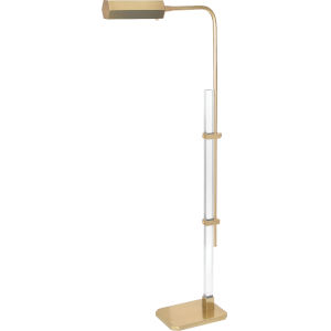Plexus Modern Brass One-Light LED Floor Lamp