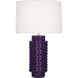 Dolly Amethyst Glazed Textured Ceramic One-Light Table Lamp