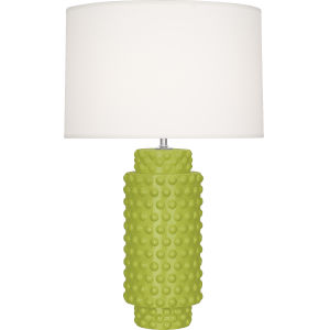 Dolly Apple Glazed Textured Ceramic One-Light Table Lamp
