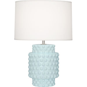 Dolly Baby Blue Glazed One-Light Accent Lamp