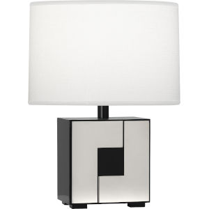 Blox Black Enamel One-Light Table Lamp