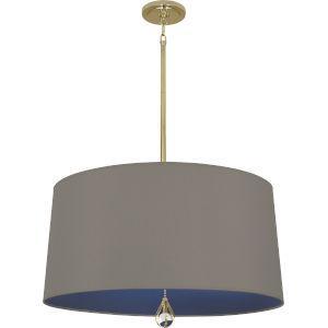 Williamsburg Custis Modern Brass Three-Light Pendant